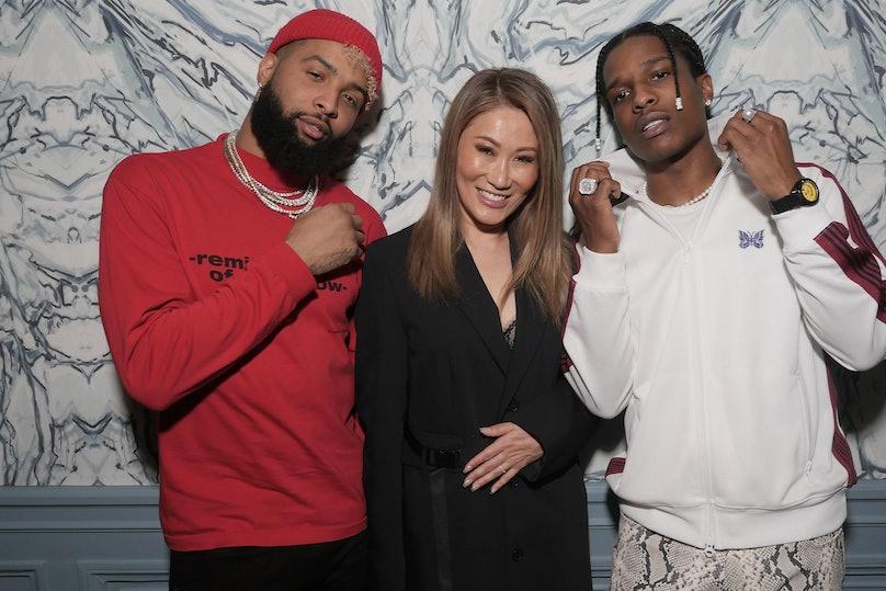 Odell Beckham Jr, Irene Roth and A$AP Rocky.JPG