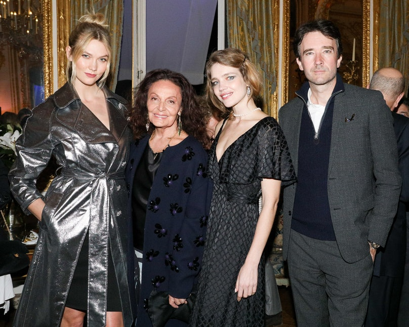 Jamie D. McCourt Ambassador of the United States of America to France and Monaco & Diane von Furstenberg celebrate the forthcoming opening of the Statue of Liberty Museum