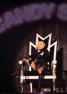 American singer Madonna performs onstage