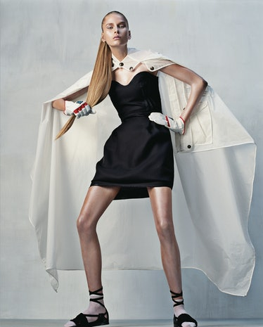 Lanvin's silk gazar dress, at Barneys New York, New York and Chicago; Amarees, Newport Beach, Califo...