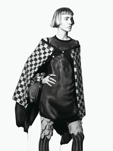 MARIOS SCHWAB'S IRIDESCENT ORANGE SILK DRESS, AT BARNEYS NEW YORK, NEW YORK AND LOS ANGELES; MARIOSS...