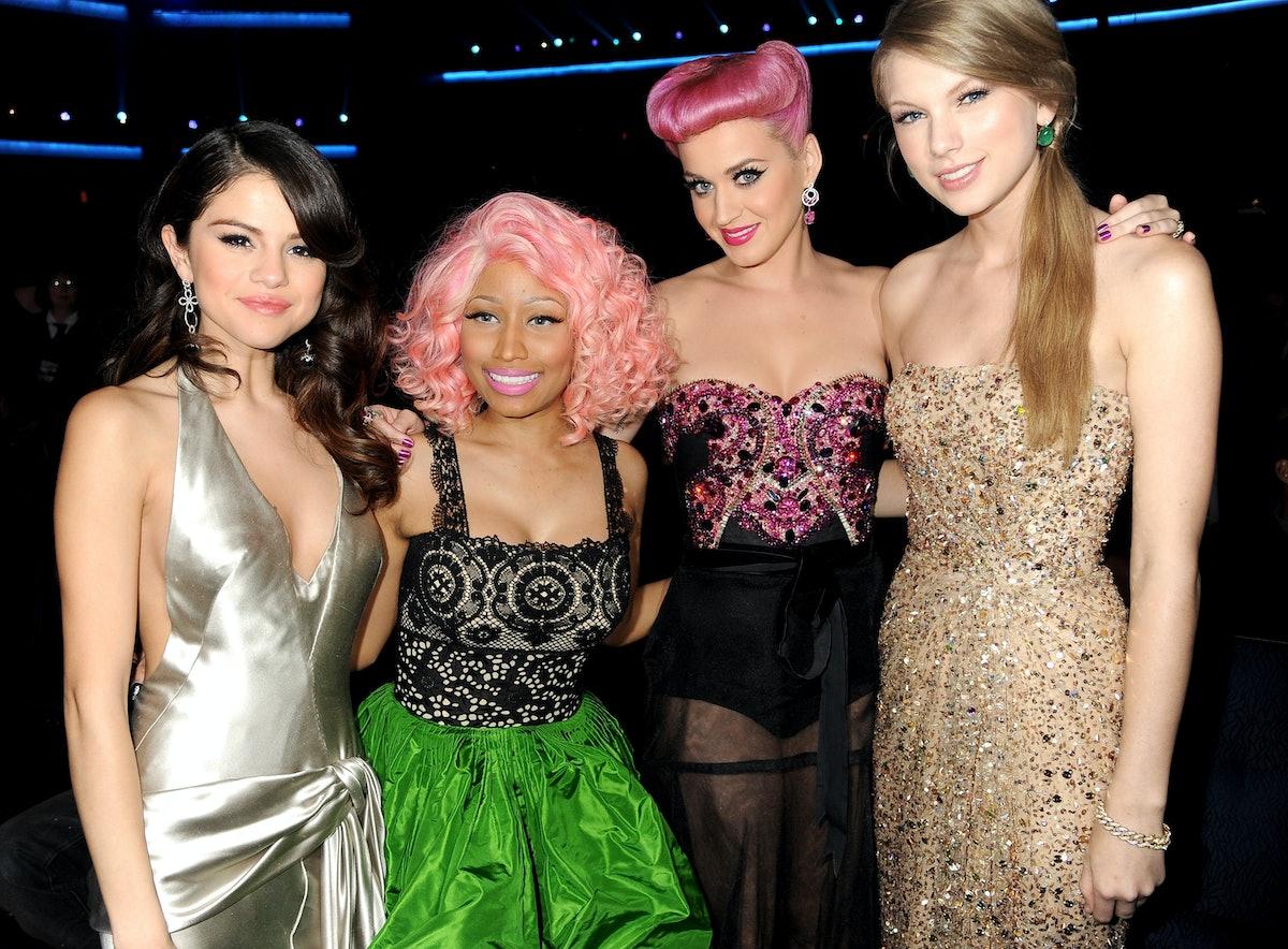 Katy Perry, Taylor Swift, Nicki Minaj, Selena Gomez