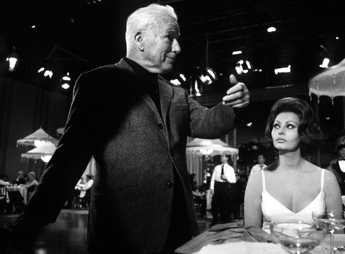 Charlie Chaplin Sophia Loren A Countess from Hong Kong 1966.jpg