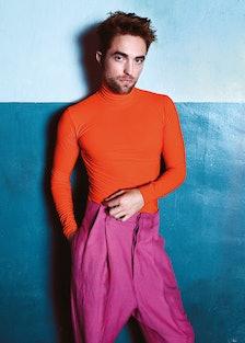 Robert Pattinson wears Dior Homme turtleneck; Haider Ackermann pants.