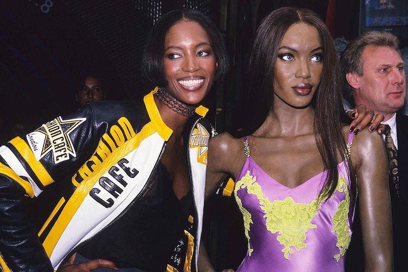 Naomi Cambell and her Waxwork at Madame Tussauds - September 1, 1996