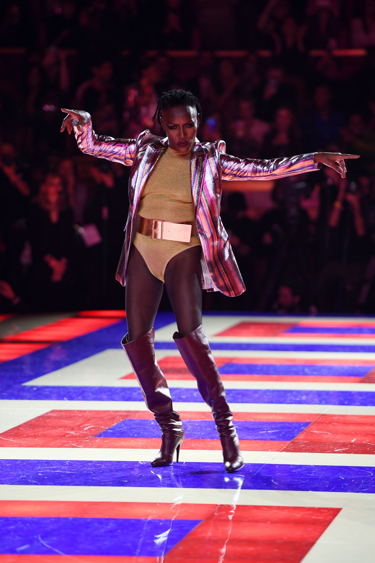 Tommy Hilfiger TOMMYNOW Spring 2019 : TommyXZendaya Premieres : Runway At The Theatre Des Champs Ely...