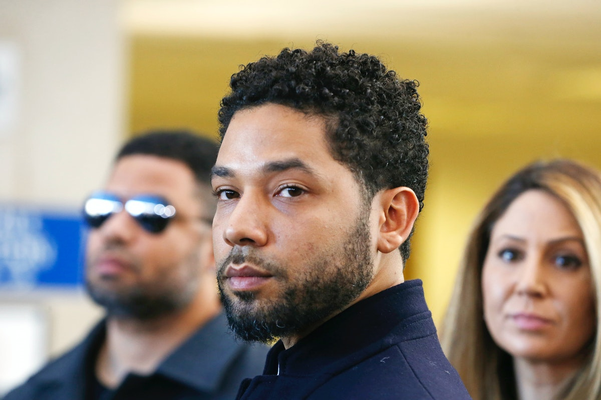 Actor Jussie Smollett Appears Outside Of Court After It Was Announced That All Charges Have Been Dro...