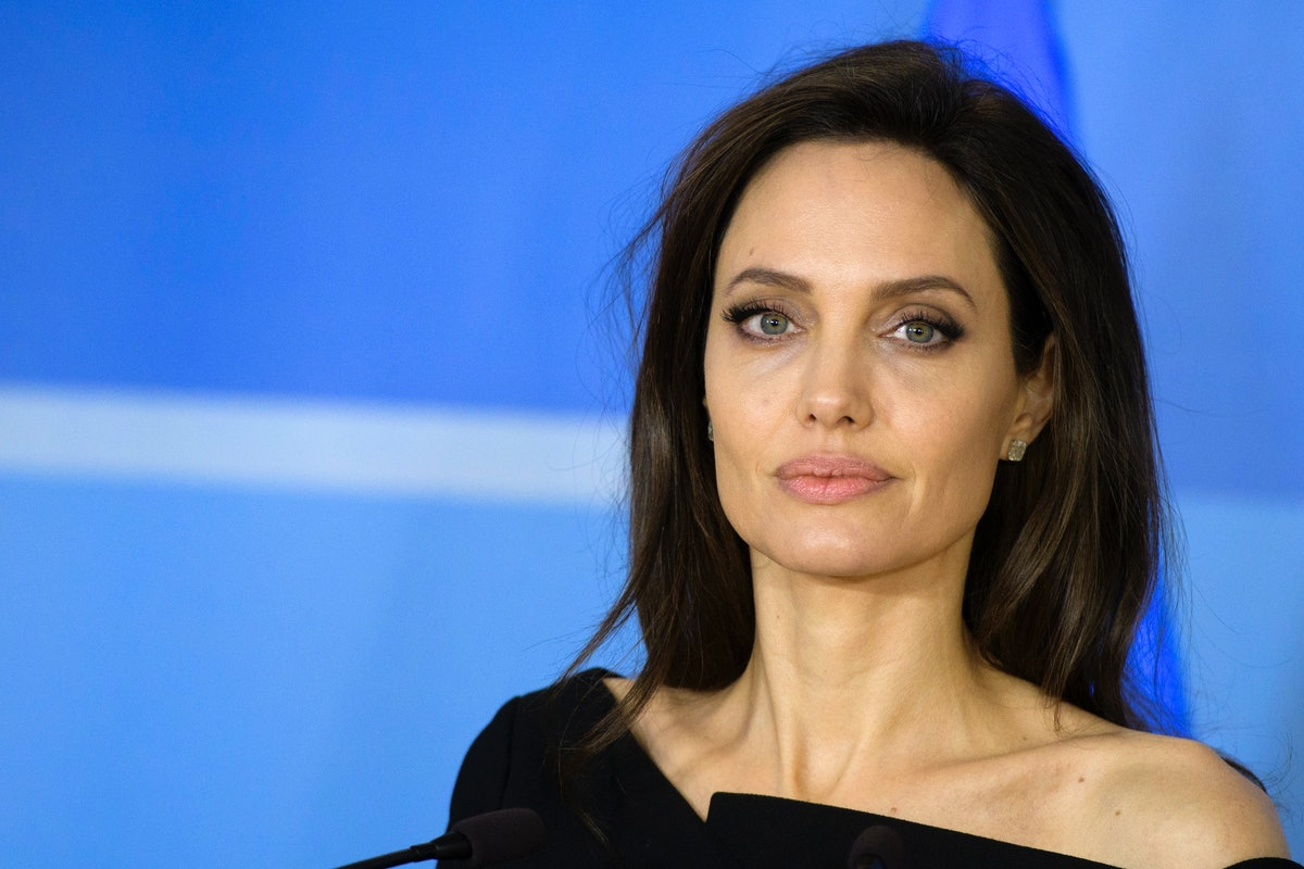 Angelina Jolie meets Jens Stoltenberg at NATO headquarters in Brussels