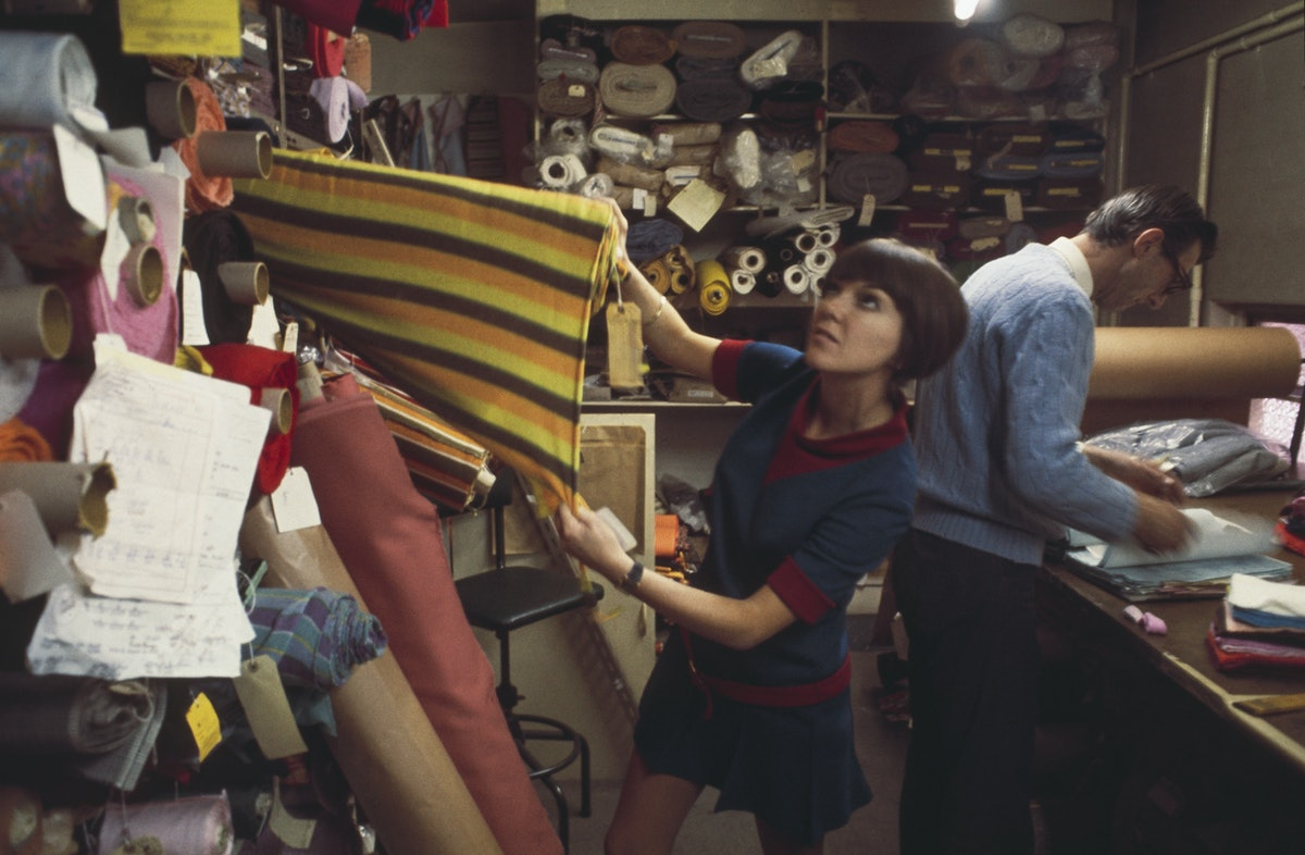 Mary Quant Selecting Fabric