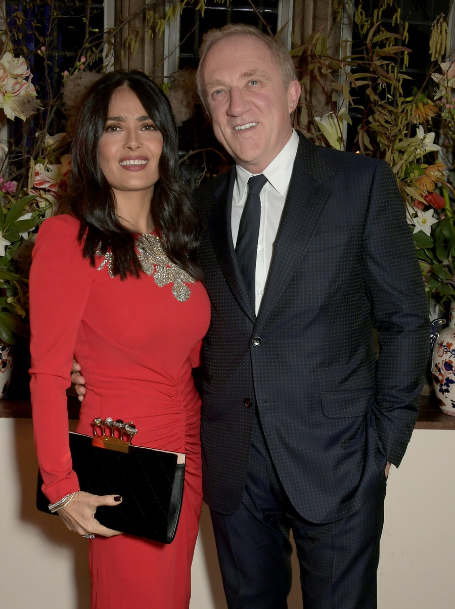 Francois-Henri Pinault Hosts A Dinner With Sarah Burton In Celebration Of The Alexander McQueen Old Bond Street Flagship Store