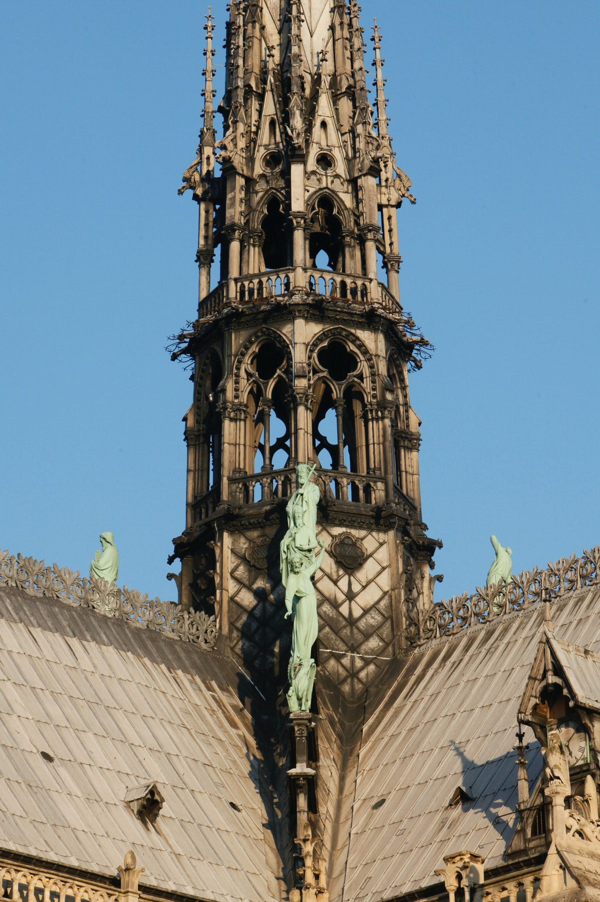 Notre-Dame de Paris cathedral spire base