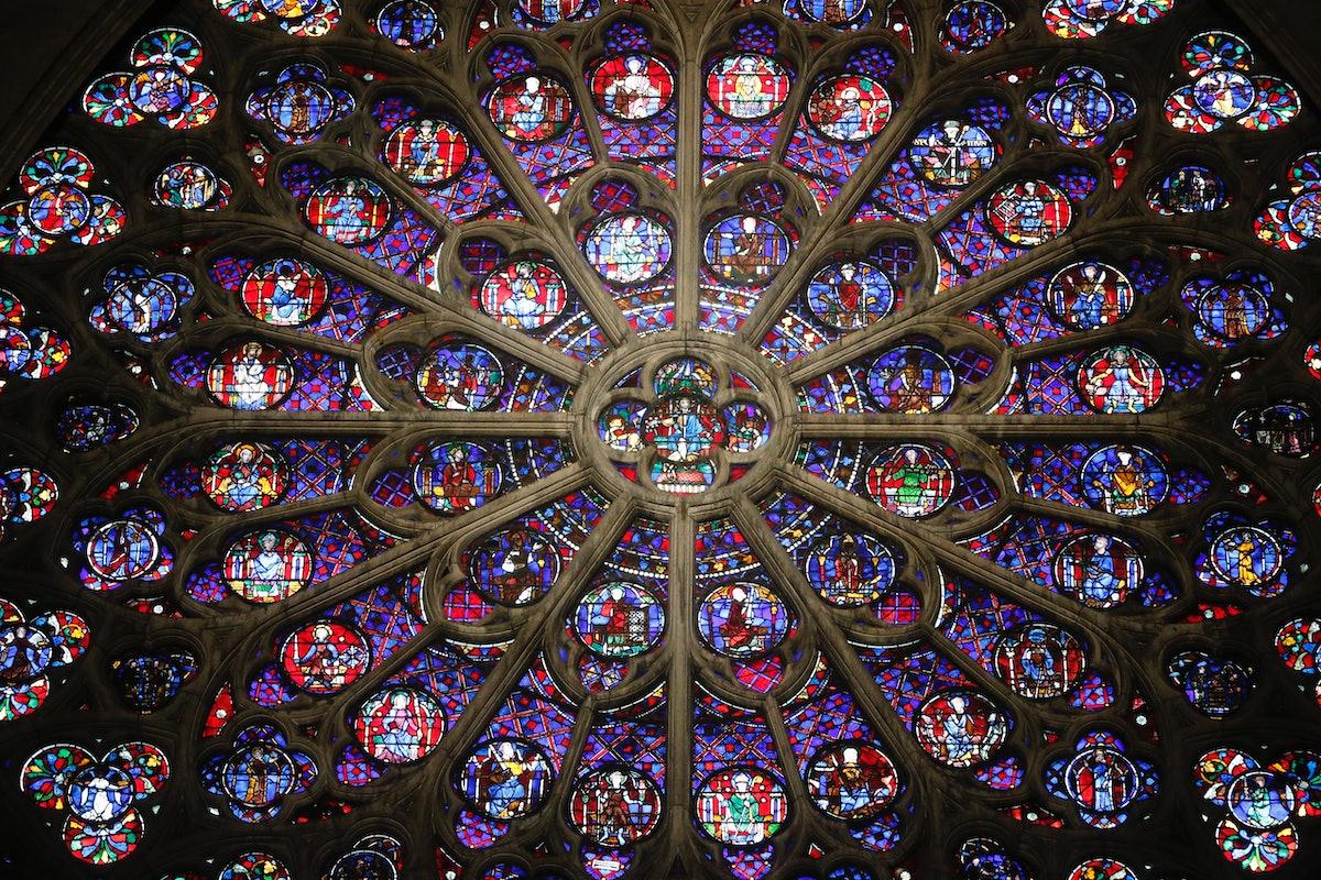 Notre-Dame de Paris Cathedral. South rose.