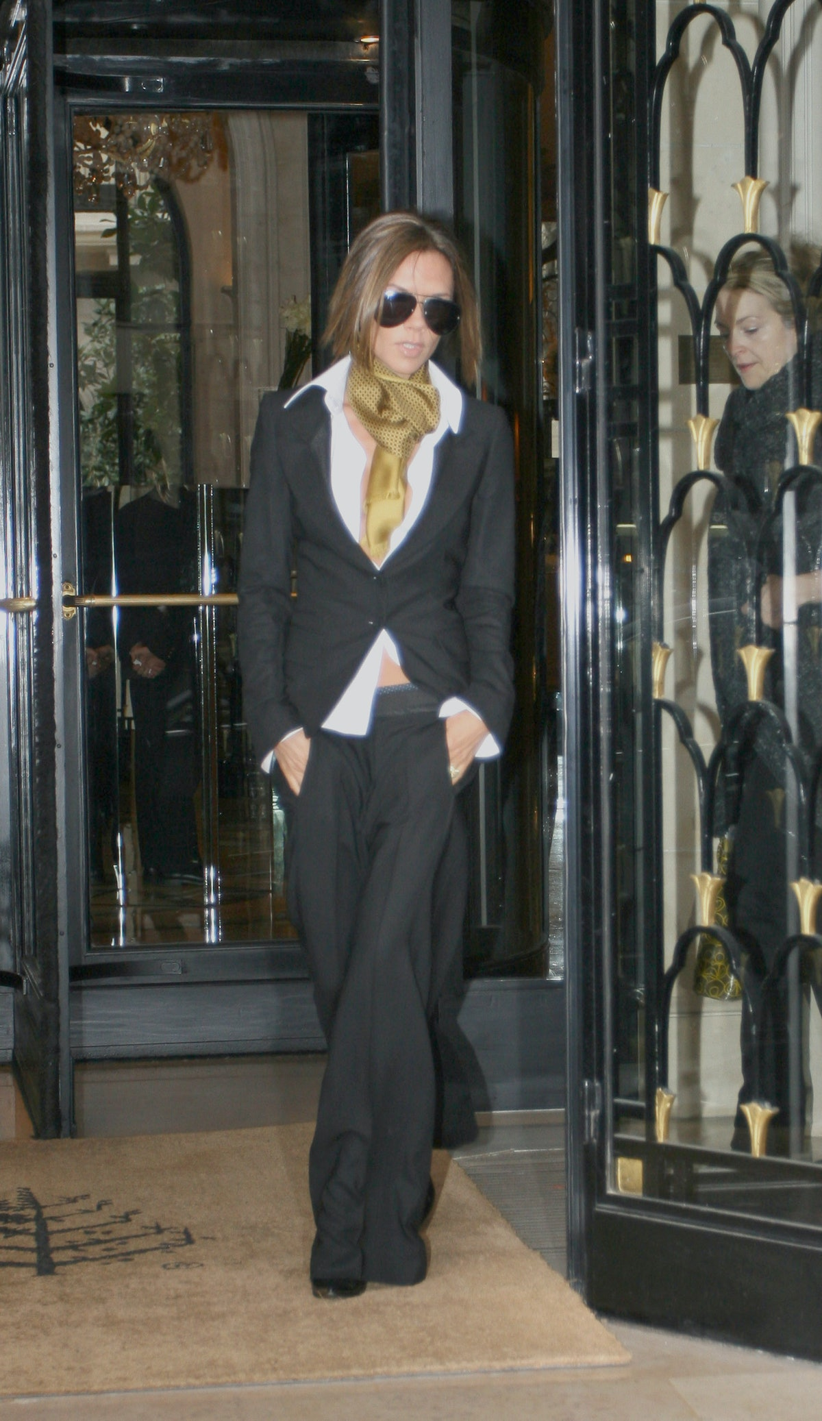 Victoria Beckham and Katie Holmes Sighting in Paris - January 23, 2007