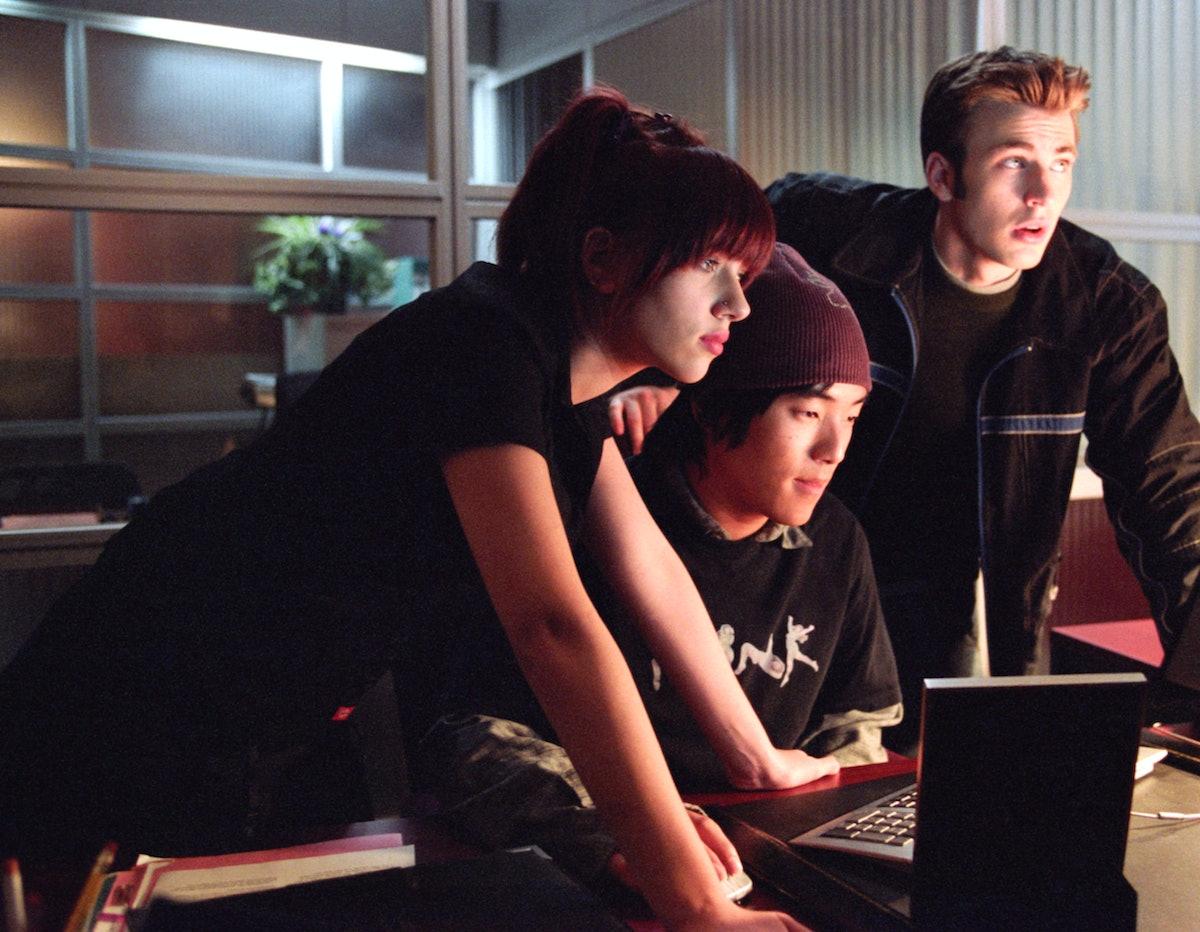 THE PERFECT SCORE, Scarlett Johansson, Leonardo Nam, Chris Evans, 2004, (c) Paramount/courtesy Evere