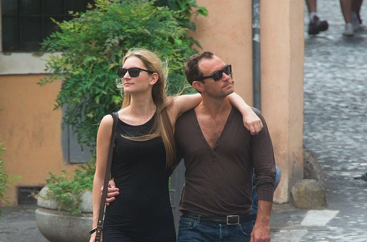 Celebrity Sightings In Rome Jude Law, Phillipa Coan  August 25, 2015