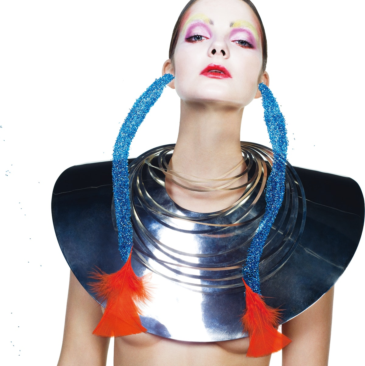 TOM BINNS CHEST PLATE AND COLLARS.BEAUTY NOTE: PINK AND RED MAKE A BOLD STATEMENT WITH REVLON MATTE ...
