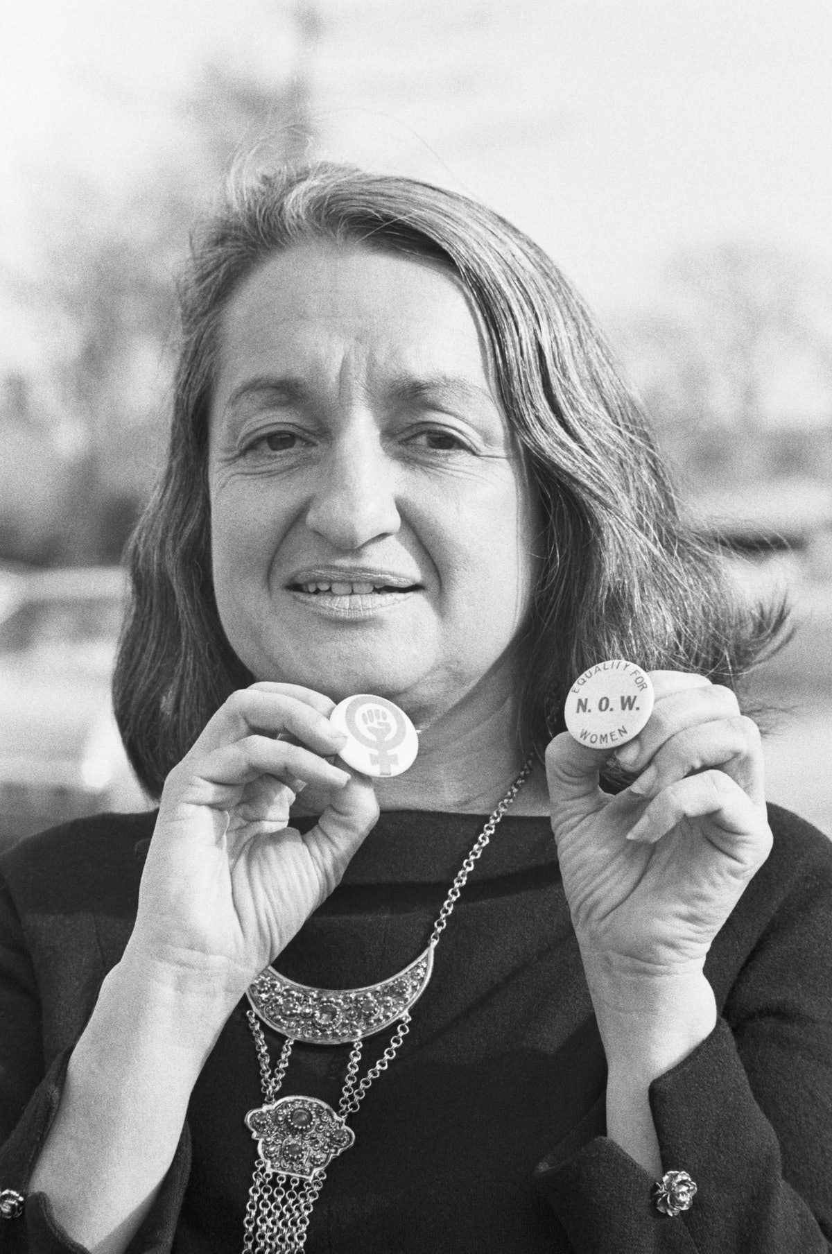 Writer Betty Friedan at Annual NOW Convention