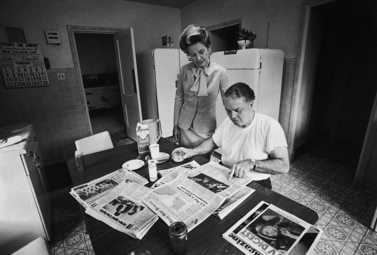 ERA opponent Phyllis Schlafly w her husband Fred at home