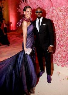 Katie Holmes and Jamie Foxx at the Met Gala