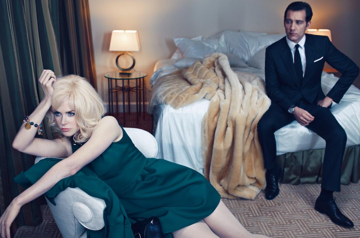 Kidman wears Louis Vuitton twill dress and coat. Louis Vuitton necklace; FD Gallery vintage Gübelin ...