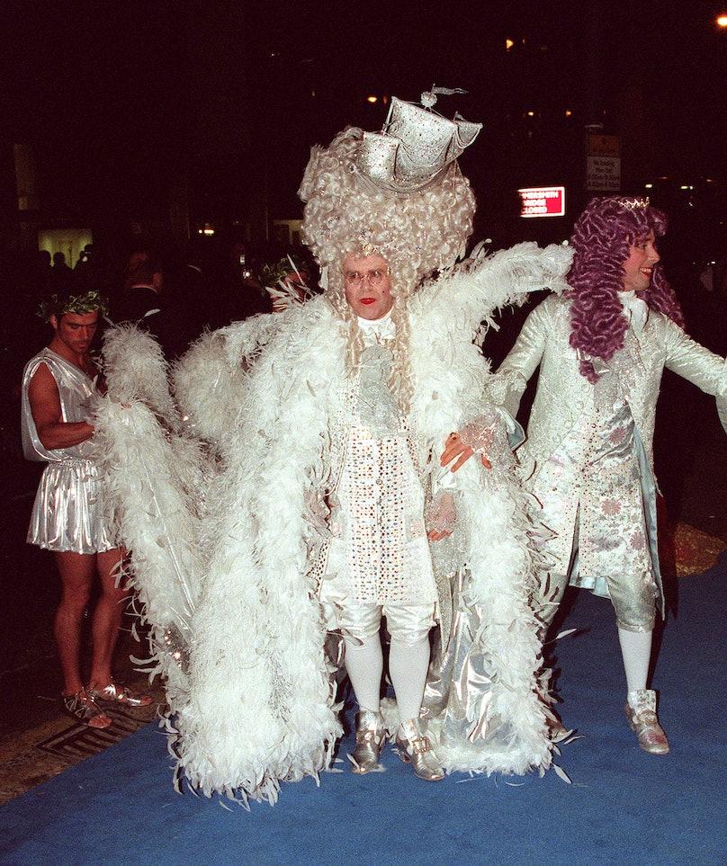 Elton John At His 40th Birthday Party