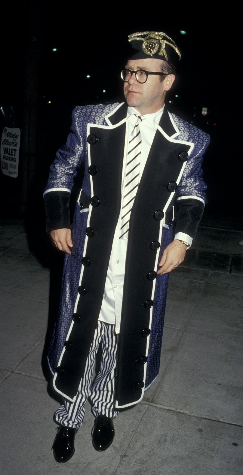 Elton John Sighted at Nicky Blair's Restaurant