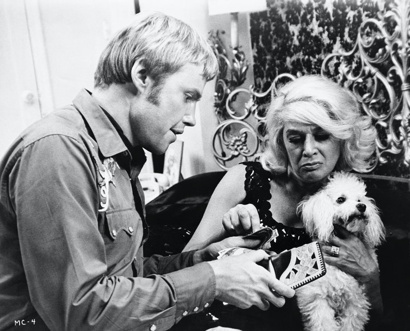 Jon Voight and Sylvia Miles in Midnight Cowboy
