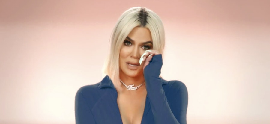 Khloé Kardashian crying