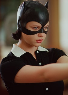 GHOST WORLD, Thora Birch in Catwoman mask, 2001.