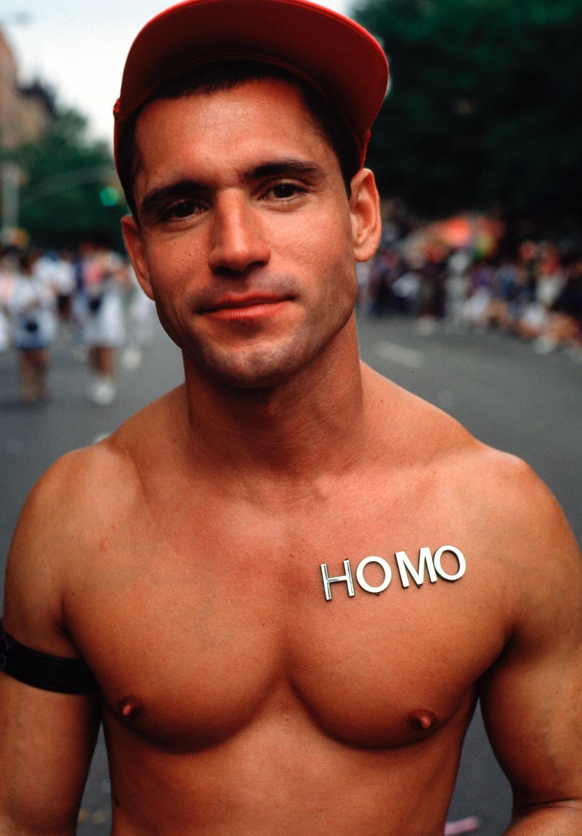 Gay man displays his homosexuality