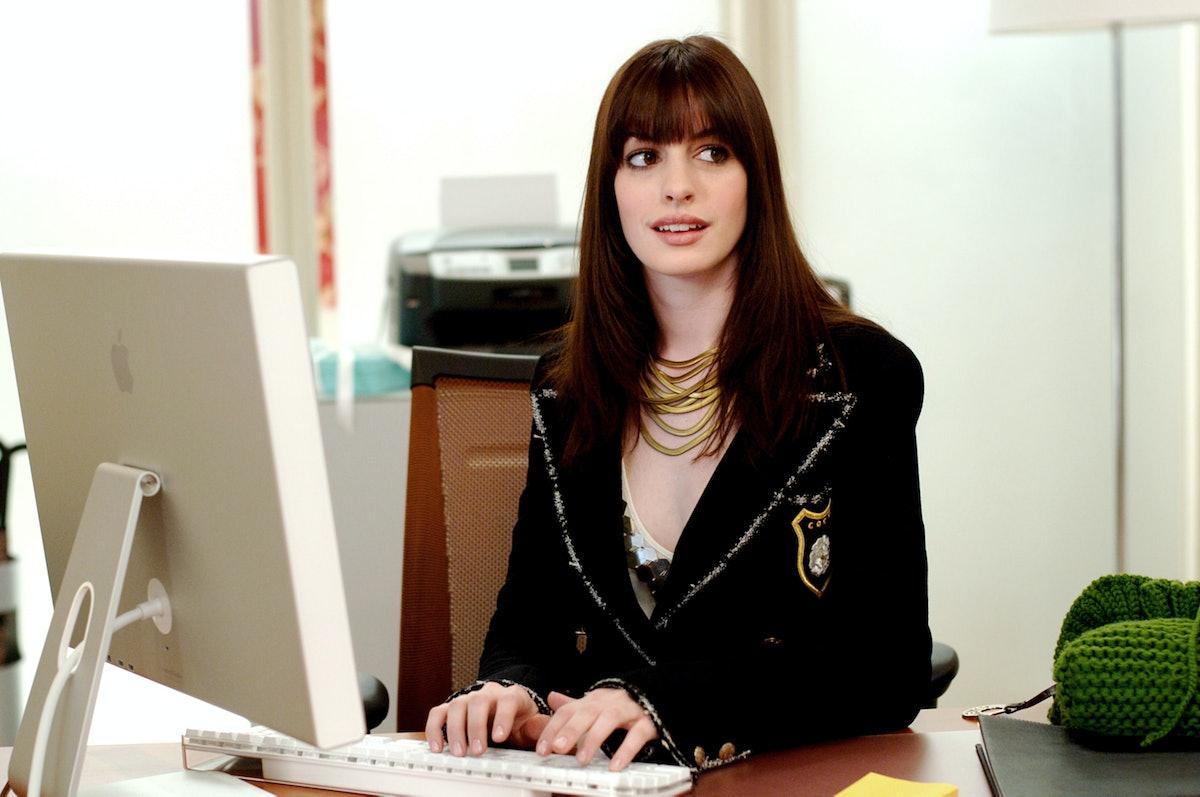 THE DEVIL WEARS PRADA, Anne Hathaway (wearing a Chanel jacket),  2006, TM & Copyright (c) 20th Centu