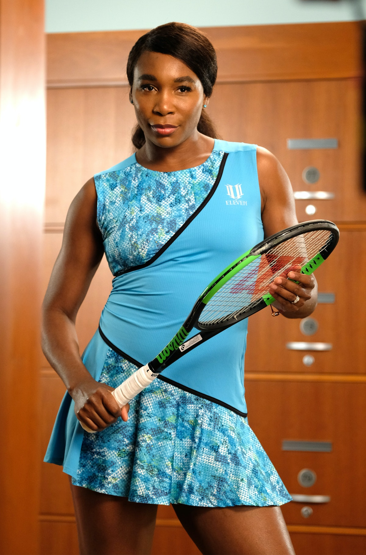 Tennis Star Venus Williams On Set With American Express Ahead of the 2018 US Open