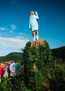 SLOVENIA-US-TRUMP-SCULPTURE-OFFBEAT