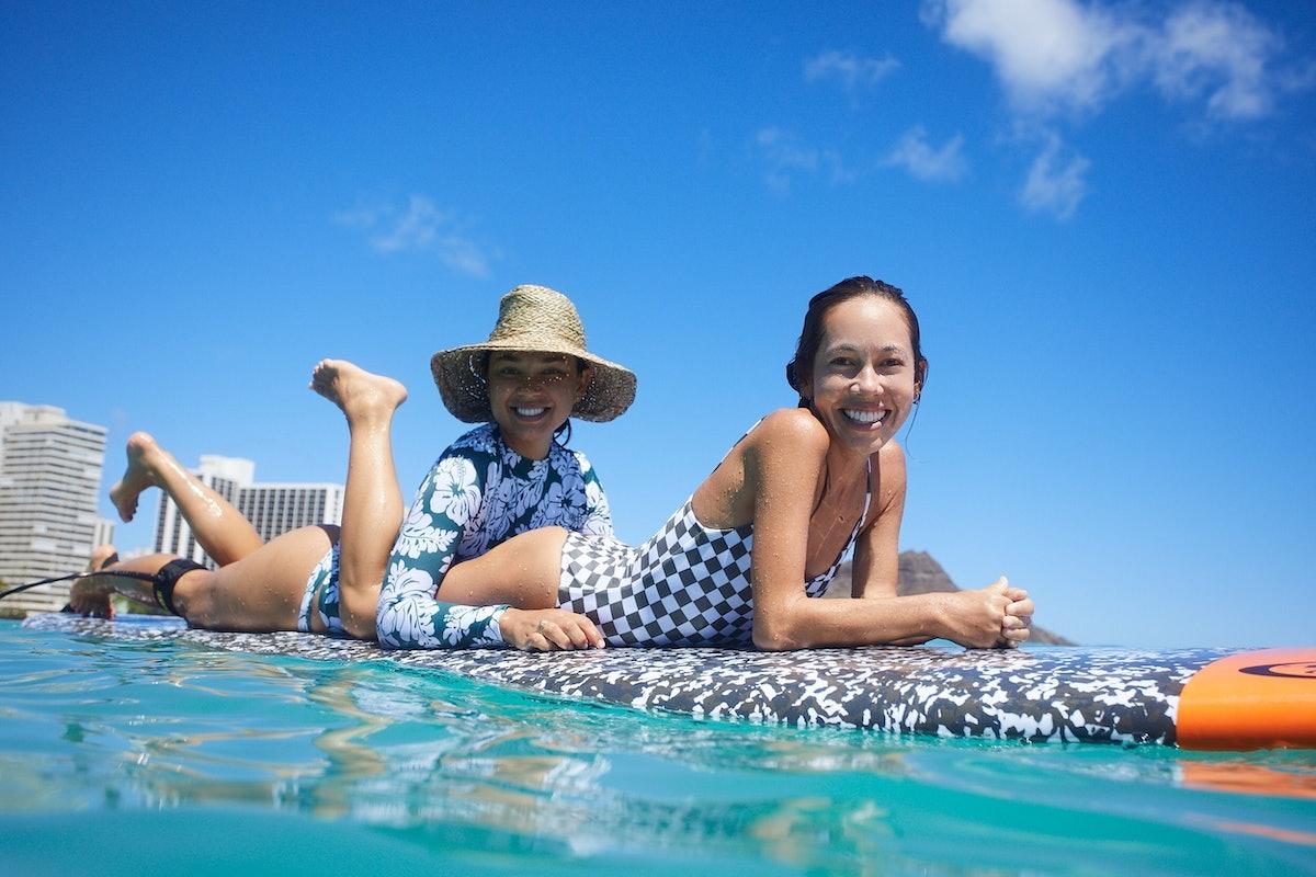 Kalani and Oleema Surfing.JPG