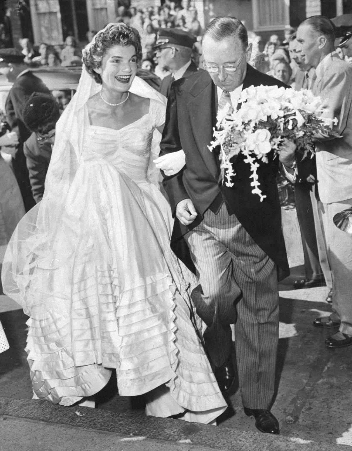 جکی او در روز عروسی اش