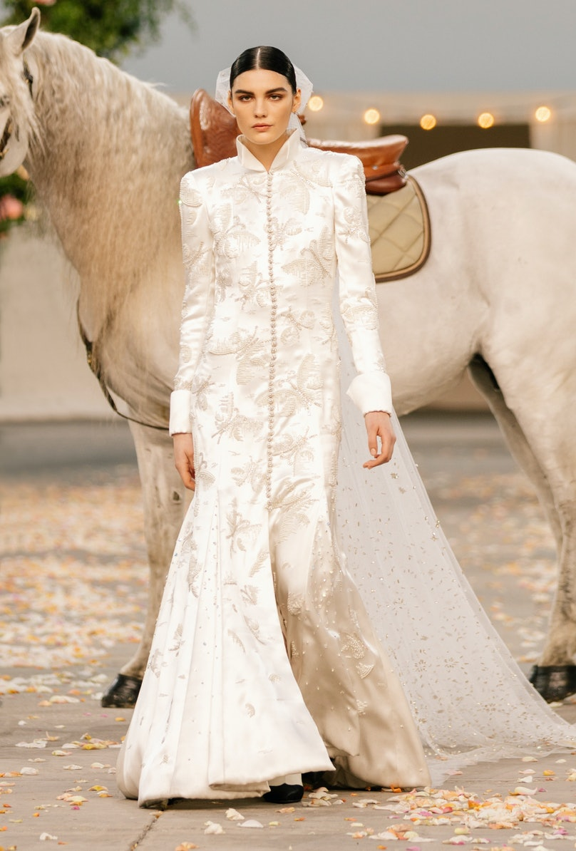 The Chanel spring 2021 couture bride
