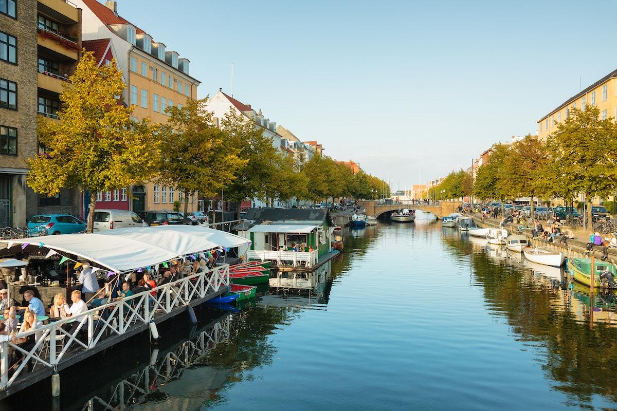 Canal in Copenhagen, Denmark.