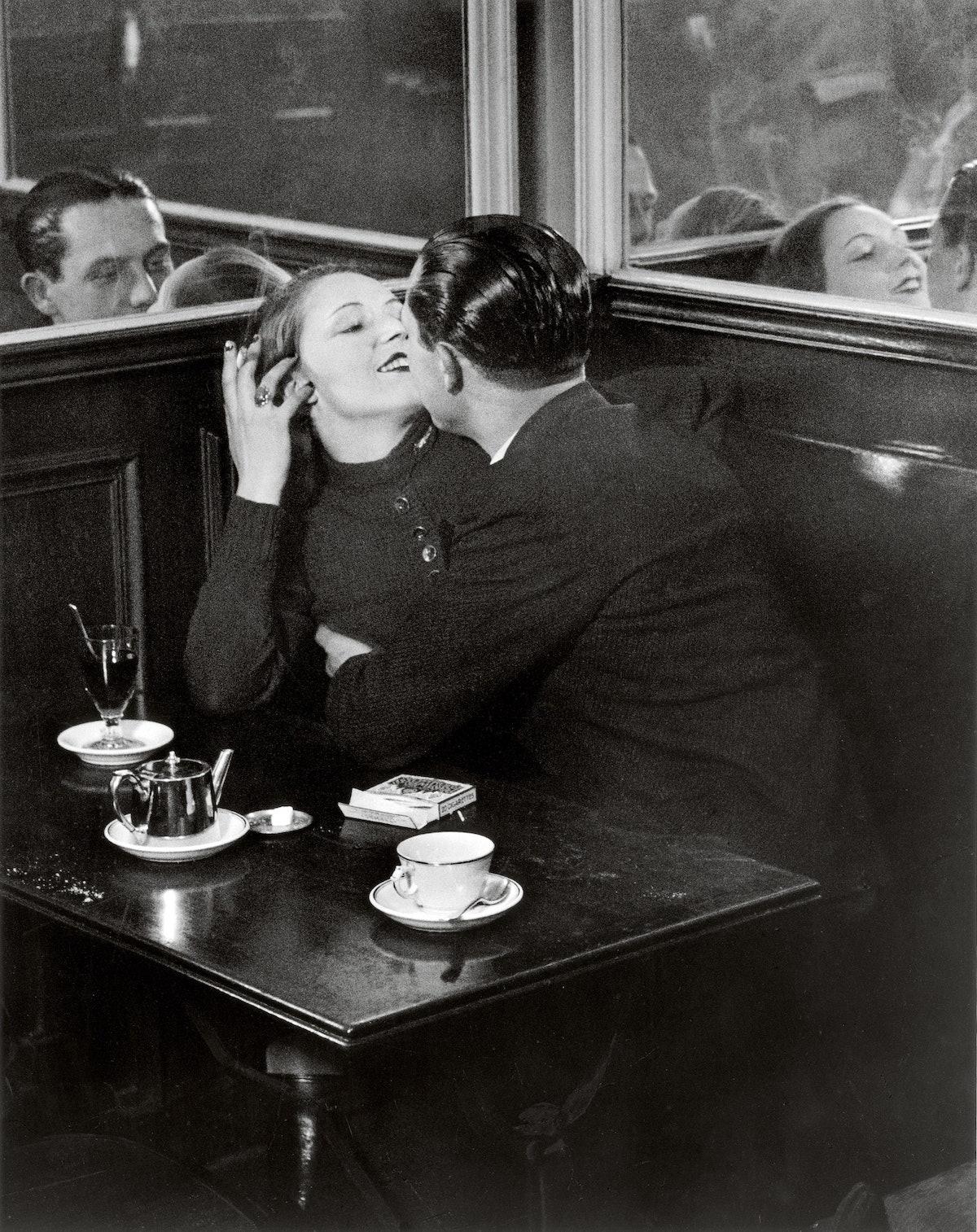 Couple d Amoureux dans un Petit Cafe Quartier Italie c1932 c Estate Brassai Succession Paris.jpg