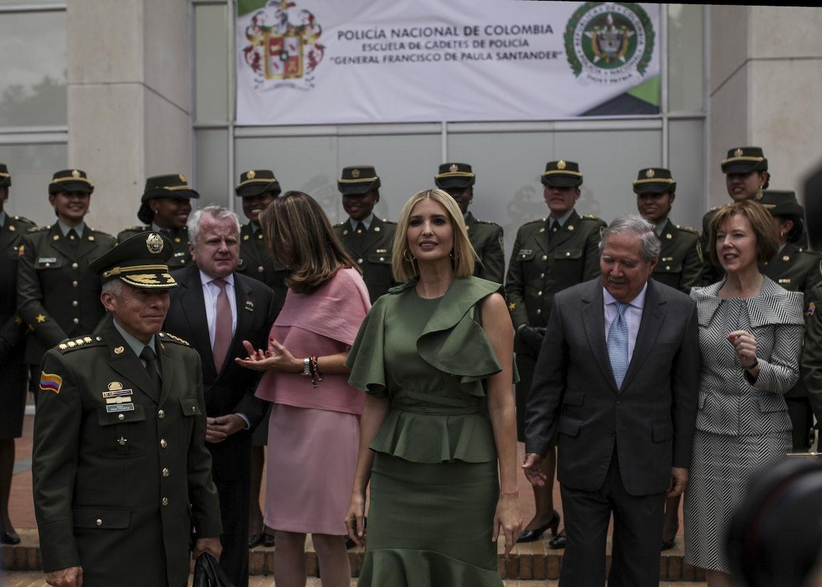Ivanka Trump visits National Police Academy in Bogota