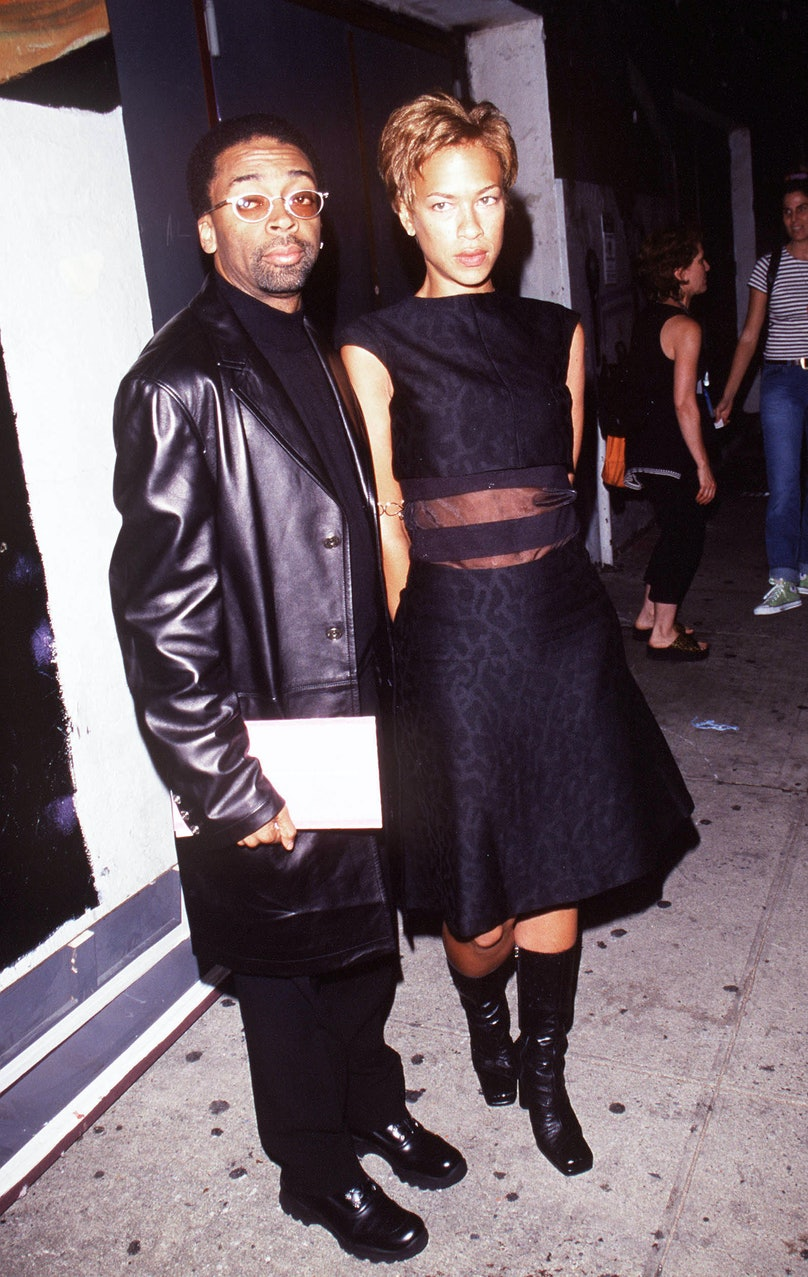Versace Versus Fashion Show Director Spike Lee And Wife