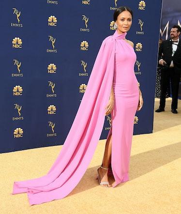 Thandie Newton pink dress Emmys