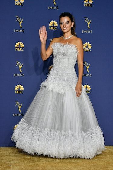 Penelope Cruz silver dress Emmys
