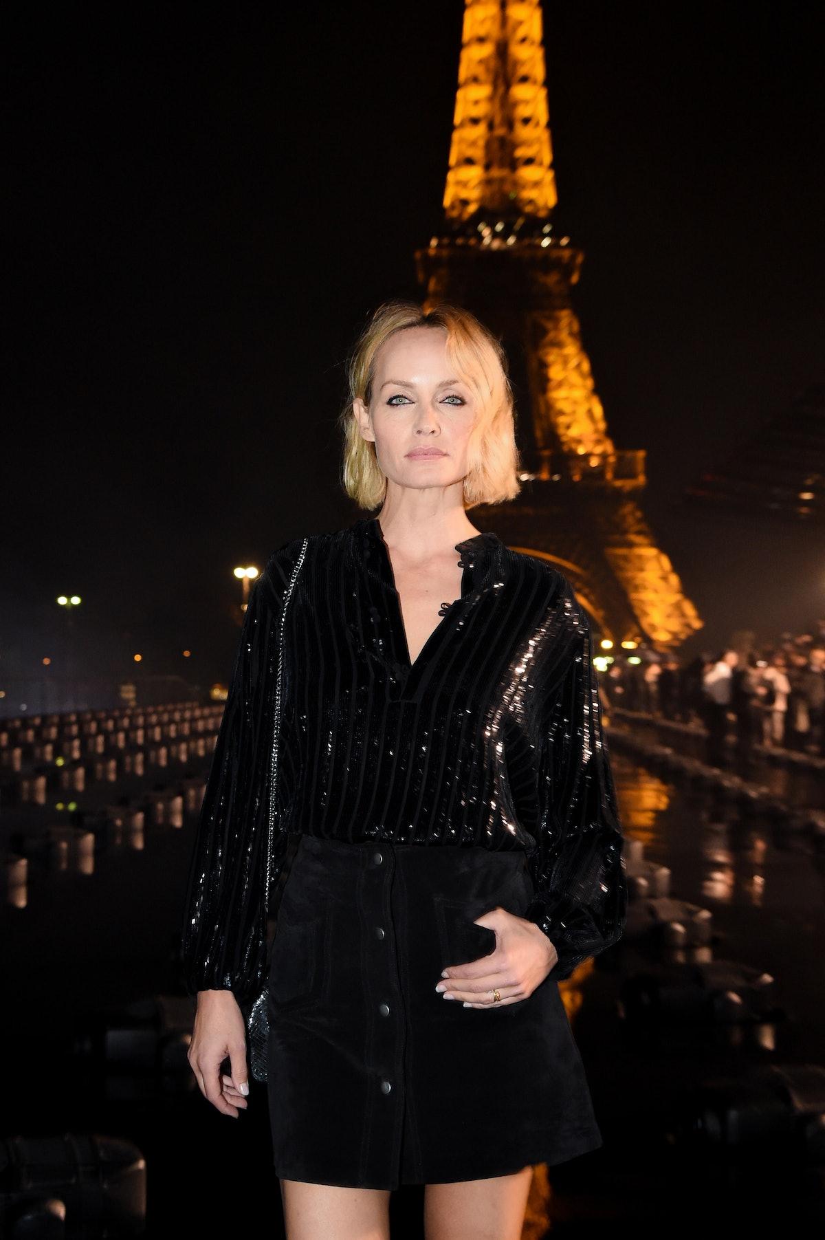 Saint Laurent : Front Row -  Paris Fashion Week - Womenswear Spring Summer 2020