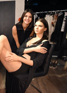 Kendall Jenner Visits Her New Waxwork At Madame Tussauds