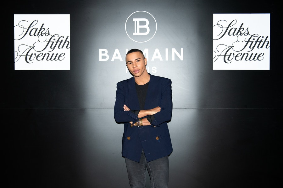 SAKS FIFTH AVENUE AND BALMAIN HOST PRIVATE COCKTAIL WITH OLIVIER ROUSTEING AT LE CHALET AT L'AVENUE AT SAKS