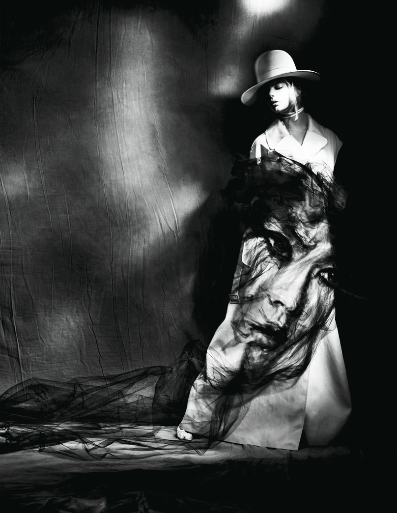 Maison Margiela Artisanal Designed by John Galliano coat, hat, and boots. For stores, prices, and more, go to Wmag.com/where-to-buy-april-2017.