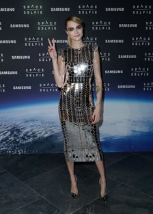SpaceSelfie With Cara Delevingne - Photocall