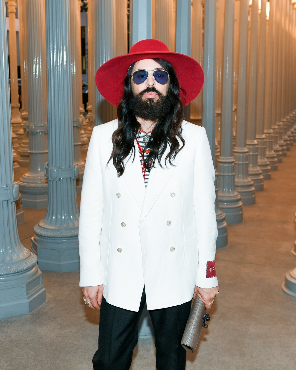 Alessandro Michele at the 2019 LACMA Art + Film Gala in Los Angeles on November 2, 2019.