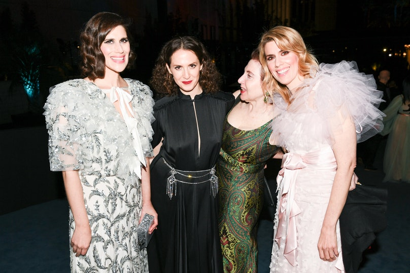 Laura Mulleavy, Sara Moonves, Lynn Hirschberg and Kate Mulleavy at the 2019 LACMA Art + Film Gala in Los Angeles on November 2, 2019.