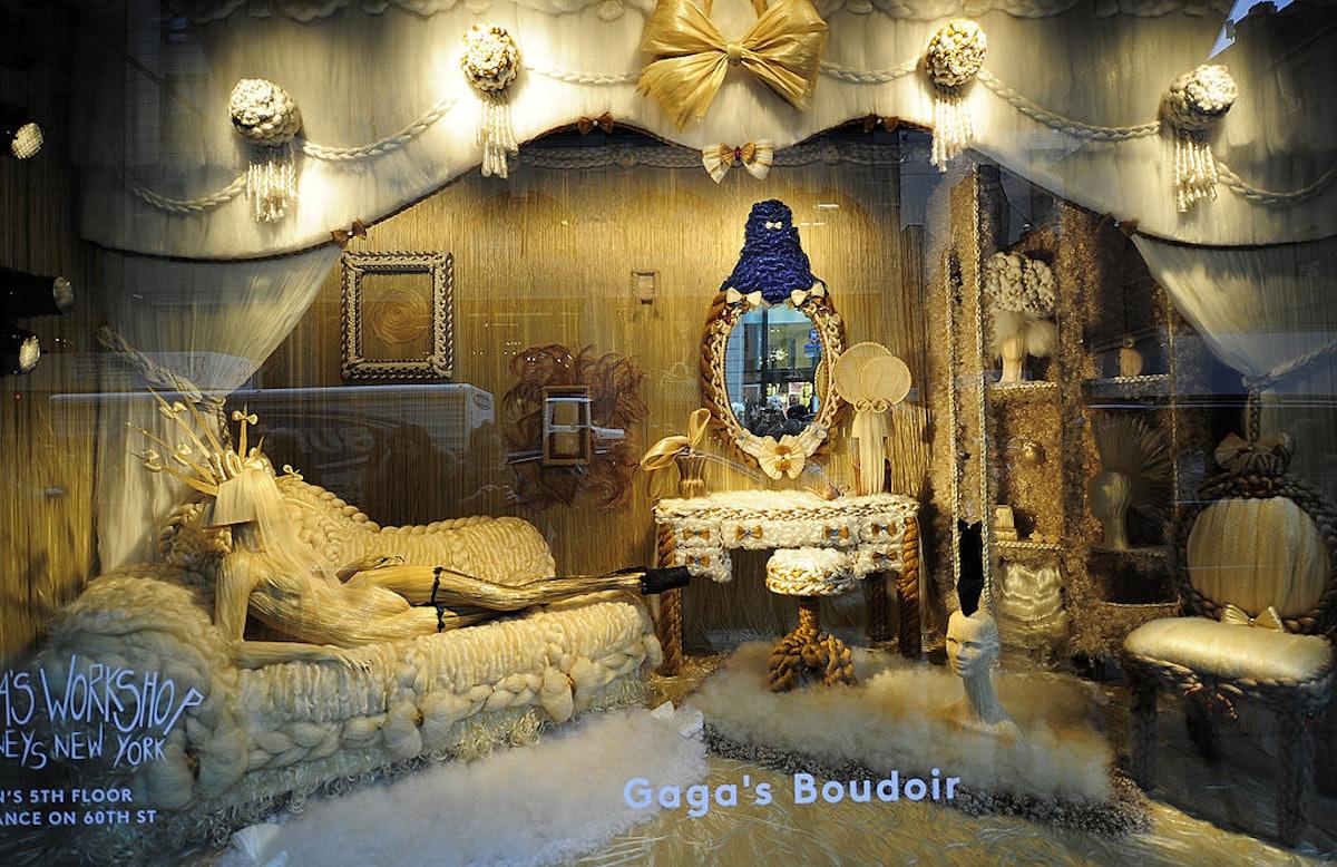 "A view of ""Lady Gaga's boudoir"" shopping"